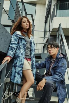 Actress Lee Min Jung and model Song Min Ho look good together for 'Aigle' | http://www.allkpop.com/article/2016/08/actress-lee-min-jung-and-model-song-min-ho-look-good-together-for-aigle