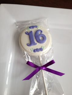 12 Chocolate Sweet 16 Lollipops Birthday Party Favors Candy Sweets Dessert Table Sixteen                                                                                                                                                                                 Más
