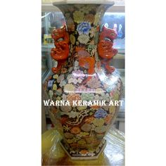 GUCI BUNGA GAGANG MERAH, Desain & Kerajinan Tangan, Karya Seni di Carousell Vase, Home Decor, Decoration Home, Room Decor, Jars, Vases, Interior Decorating, Jar