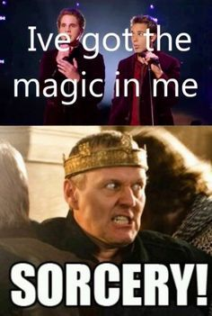 glittery meme queen:  Merlin memes because why not.