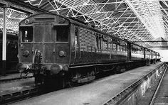 An aging Oerlikon EMU in Croxley Green shed in the late 1950s