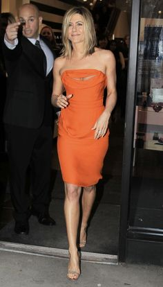Jennifer Aniston leaving Sephora in NYC after a signing event for her new fragrance. What Jennifer is wearing- Dress: Vivienne Westwood / Shoes: Christian Louboutin