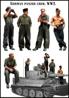 German Panzer Crew WW2. BIG Set 3