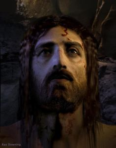Jesus Resurrected by Ray Downing of Studio Macbeth. He depicts the face of Jesus from the Shroud of Turin via computer. (The Face OF Jesus~The History Channel)