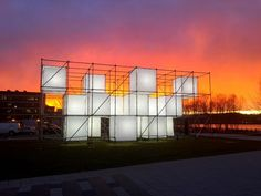 a temporary, large-scale, public art, light sculpture created by artist John Ensor Parker. Interactive Installation, Light Installation, Urban Sport, Point Cloud, Concert Stage Design, Lighted Canvas, Public Art, Plein Air, Light Art