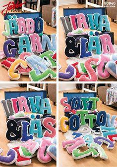 Hæklede bogstaver / crochet alphabet