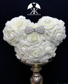 IVORY MICKEY Flower Ball With Rhinestone PEARL Bow BROOCH. Mickey Bridesmaids Bouquet. Mickey Flower Girl Bouquet. Mickey Centerpiece. Mickey Birthday Party. MINNIE Mouse Centerpiece. Minnie Birthday Party. Mickey Wedding. Minnie Mouse Wedding. Minnie Mouse Flower Girl Bouquet. Mickey Baby Shower. Lime Wedding, Dusty Rose Wedding, Rainbow Wedding, Yellow Wedding, Burgundy Wedding, Ivory Wedding, Luxury Wedding, Destination Wedding, Coral Wedding Centerpieces