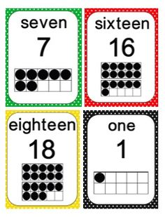 Number cards featuring ten frames with different borders (free)