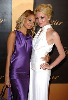 Pin for Later: You Won't Believe How Much Nicole Richie Has Changed Since 2001 How's this for a blast from the past? Nicole and a blond Lindsay Lohan stepped out together for a Cartier bash in May 2005.