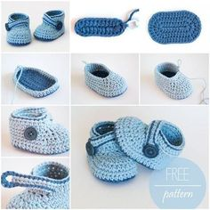 If you like crocheting, you can create a nice and warm pair of crochet booties with a crochet hook and some yarn! Here is free patternto make a pair of crochet blue whalebaby…