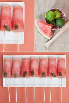 Watermelon Mojito Popsicles    mojito-popsicles by Cynthia Martyn Fine Events, via Flickr