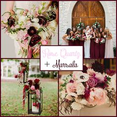 Rose Quartz, one of Pantone's Colors of the Year for 2016 paired with MARSALA paired with Pantone's 2015 Color of the Year.  I love the soft pink with the bold pop of Marsala