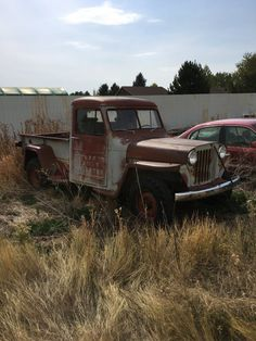 1949 Willys Truck - Photo submitted by Shane Wiebe. Vintage Jeep, Vintage Pickup Trucks, Vintage Cars, Farm Trucks, Old Trucks, Classic Trucks, Classic Cars, Willys Wagon, Old Jeep