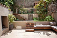 Backyard design by Fossey Arora Design. constructed by The Garden Builders
