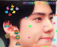 Find images and videos about exo, colors and sehun on We Heart It - the app to get lost in what you love. Exo, Baekhyun, Retro Aesthetic, Kpop Aesthetic, Sehun Cute, Cute Icons, Edit Icon, Cute Stickers, K Idols