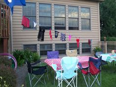 White Trash Party decorations... Air out your trashy laundry on the clothesline.