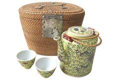 Chinese Tea Set w/ Travel Case