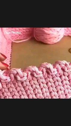 Crochet Blanket Border, Crochet Boarders, Crochet Edging Patterns, Crochet Basket Pattern, Crochet Stitches, Crochet Mandala, Filet Crochet, Crochet Doilies, Crochet Lace