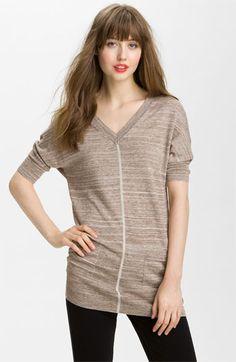 Caslon® Double V-Neck Tunic Sweater | Nordstrom