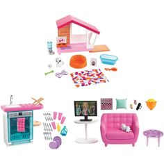 Superb Barbie Indoor Furniture Assortment Now at Smyths Toys UK. Shop for Barbie At Great Prices. Free Home Delivery for orders over Dreamhouse Barbie, Barbie Doll House, Barbie Dream House, Barbie Dolls Diy, Barbie Furniture, Dollhouse Furniture, Furniture Sets Design, Accessoires Barbie, Pink Couch
