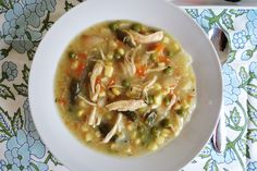 Crockpot Chicken Pot Pie Soup!  Tastes just like chicken pot pie without all the calories!!!