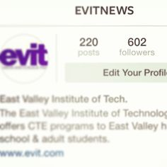 Congratulations to Logan for being our 600th follower on Instagram! We are still working on getting our 5000th like on Facebook!   From the EVIT Instagram: www.instagram.com/evitnews