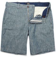 Stanton Slim-Fit Chambray Shorts