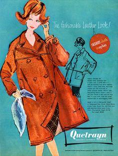 1959 Quelrayn Rainwear vintage ad