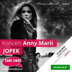 Zapraszamy do naszego konkursu w którym możecie wygrać jedno z 3 podwójnych zaproszeń na niezapomniany koncert fenomenalnej Anny Marii Jopek. Więcej na ten temat przeczytacie na naszym blogu Sami Swoi - https://blog.przekazypieniezne.com/2015/01/wygraj-bilety-na-koncert-anny-marii-jopek-w-londynie/