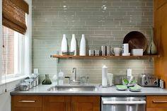 Kitchen: Glass on Pinterest | Glass Tiles, Kitchen Backsplash and ...