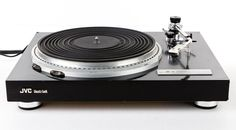 JVC QL-5 QUARTZ LOCK DIRECT DRIVE MANUAL STEREO TURNTABLE w/ GRADO ZT+ CARTRIDGE #JVC #Turntable