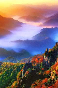 Amazing Photography Mt. Daedun, Korea #enjoytheview #breathtaking #amazing_photos