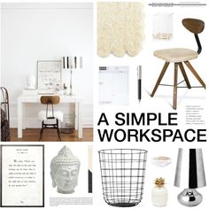 """A Simple Workspace"" by emmy on Polyvore"