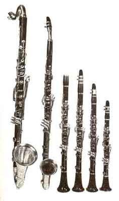 Bass Clarinet, Basset Horn & Conventional Soprano Clarinets