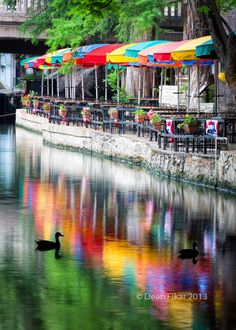 The San Antonio Riverwalk, ate at one of these restaurants along the riverwalk...and what I remember was omg my nachos I ordered were soo hot #texas