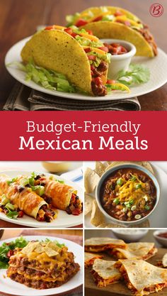 Host your next fiesta without breaking the bank with these budget-friendly recipes at the ready. Frugal Meals, Budget Meals, Quick Meals, Budget Recipes, Mexican Food Recipes, Beef Recipes, Cooking Recipes, Mexican Meals, Cheese Recipes