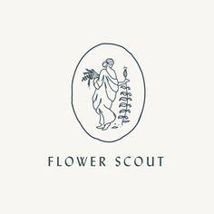 Flower Scout by Caroline Corrigan, clean typography, illustration, logo design Business Branding, Logo Branding, 1 Logo, Typography Logo, Lettering, Real Estate Logo Design, Graphic Design Inspiration, Modern Graphic Design, Logo Nasa