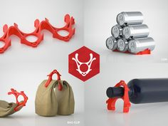 """The Rad Reindeer The Rad Reindeer multi purpose refrigerator tool, solves a great variety of problems inside your fridge. Having problems with bottles, cans rolling around your fridge? Just stack up multiple Rad Reindeer's together to create a chain to rack up your bottles. Having problems with dripping wine or beverage bottles ? Just tilt the Rad Reindeer on its """"antlers"""" to lift the tip of your bottle from the ground. Having problems with open food bags ? Just use the two..."""