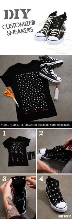 Take your sneakers to a whole new level! // DIY Hi Top Sneaker
