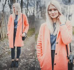 A wonderful pop of colour on the coat
