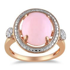Miadora Pink Silver 2ct TGW Pink Opal and Diamond Accent Ring with Bonus Earrings | Overstock™ Shopping - Top Rated Miadora Gemstone Rings