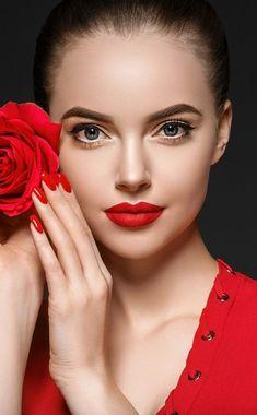 Rose and girl model, juicy lips, photoshoot, wallpaper Most Beautiful Faces, Beautiful Lips, Beautiful Girl Image, Girl Face, Woman Face, Beauty Full Girl, Beauty Women, Simple Wedding Hairstyles, Model Face