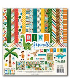 This Dino Friends Scrapbooking Kit by Echo Park Paper Co. is perfect! #zulilyfinds
