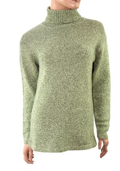 Green Real Comfort Knit Roll Up Jumper