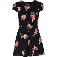 Black floral cut out playsuit - playsuits - playsuits / jumpsuits - women