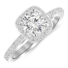 {Quick and Easy Gift Ideas from the USA}  2.25 Carat Designer Halo Channel Set Round Diamond Engagement Ring with Milgrain with a 1.5 Carat J- http://welikedthis.com/2-25-carat-designer-halo-channel-set-round-diamond-engagement-ring-with-milgrain-with-a-1-5-carat-j #gifts #giftideas #welikedthisusa
