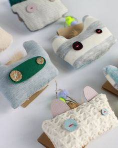 Rabbit Toy Brooches by #WolfIndustries on Etsy