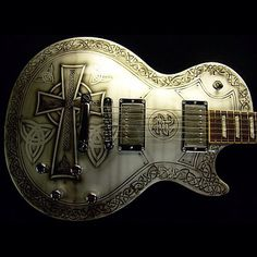 Gibson Les Paul Standard we airbrushed a Celtic paint scheme on! If your…
