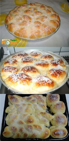 #PãoDocedeLiquidificador #PãoDoce #Receitatodahora Pan Dulce, Sweet Bread, Bread Recipes, Sweet Recipes, Donuts, Delicious Desserts, Food And Drink, Favorite Recipes, Baking