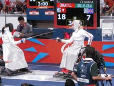 Gemma Collis, who lives in nearby town of Aylesbury, and part of the three member women's wheelchair fencing team